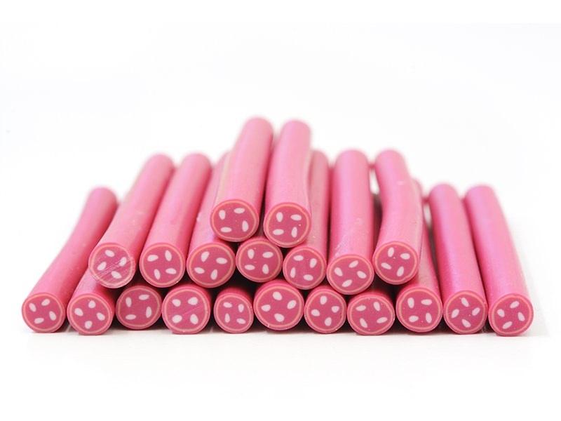 Cane bouton rose - mercerie