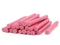 Button cane - pink, haberdashery