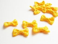 Noeud jaune à pois - 3 cm