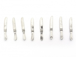 Set of 8 miniature knives - 1.2 cm