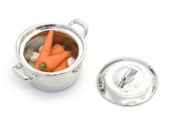 Cocotte / marmite miniature en métal - 2,5 cm