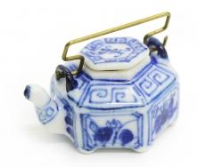 Théière décorée en céramique - 2,5 cm