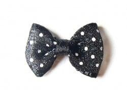 Acheter Noeud noir à pois en tulle - 2 cm - 0,39€ en ligne sur La Petite Epicerie - Loisirs créatifs