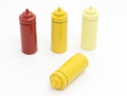 4 Miniatursoßenflaschen - 23 mm