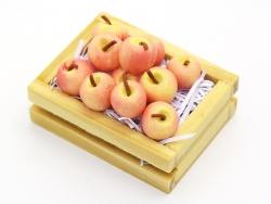 Miniaturkiste mit Äpfeln - 34 mm