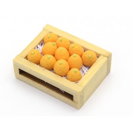 Cagette d'oranges miniature - 34 mm