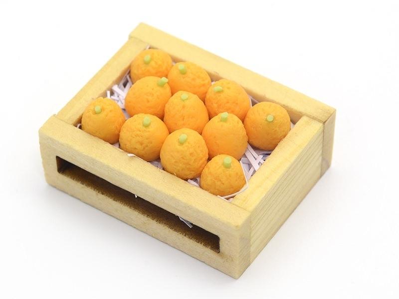 Miniature Orange Crate - 34 mm