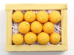 Miniaturkiste mit Orangen - 34 mm