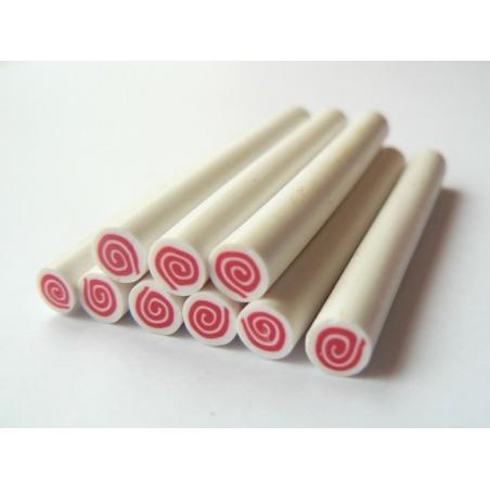 Swiss roll cane - raspberry