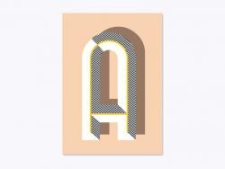 Carnet graphique - lettre A