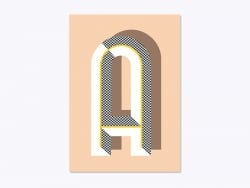 Graphic notebook - letter A