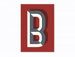 Graphic notebook - letter B