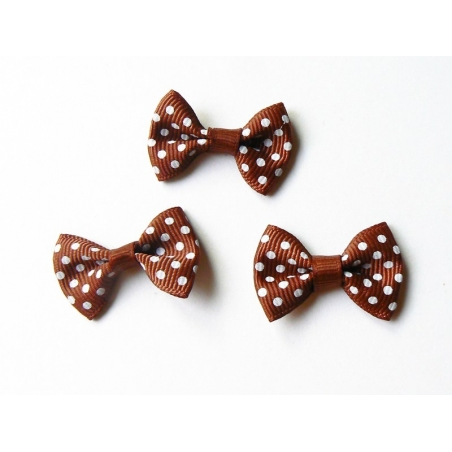 Acheter Noeud marron à pois - 3 cm - 0,39€ en ligne sur La Petite Epicerie - Loisirs créatifs