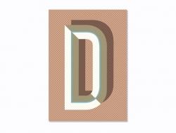 Carnet graphique - lettre D