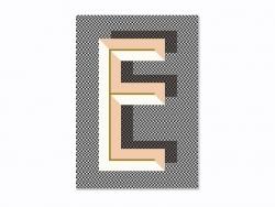 Carnet graphique - lettre E