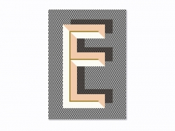 Graphic notebook - letter E