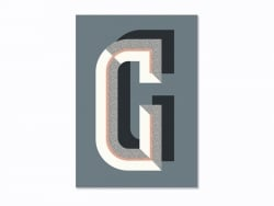 Graphic notebook - letter G
