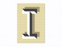 Carnet graphique - lettre I