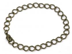 Charm bracelet - bronze-coloured