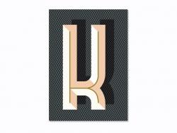 Carnet graphique - lettre K Ferm living - 1
