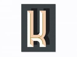 Graphic notebook - letter K