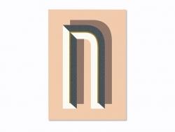 Carnet graphique - lettre N Ferm living - 1