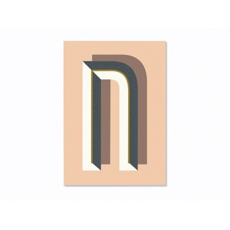 Graphic notebook - letter N