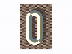 Carnet graphique - lettre O  Ferm living - 1