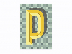 Graphic notebook - letter P