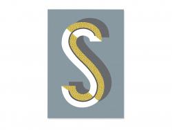 Carnet graphique - lettre S
