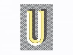 Carnet graphique - lettre U  Ferm living - 1