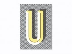 Heft mit Grafikdruck - Buchstabe U