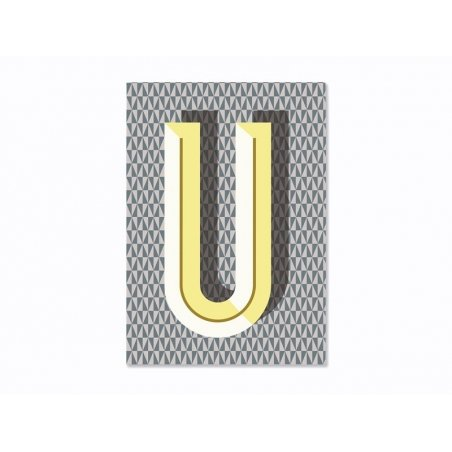 Graphic notebook - letter U