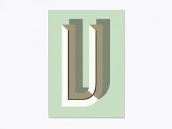 Carnet graphique - lettre V  Ferm living - 1