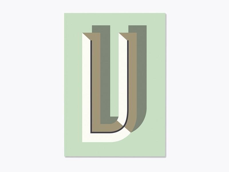 Graphic notebook - letter V