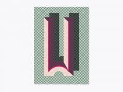 Carnet graphique - lettre W  Ferm living - 1