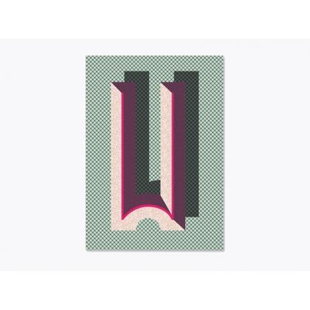 Carnet graphique - lettre W