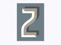 Heft mit Grafikdruck - Buchstabe Z