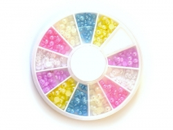 Acheter Boite de mini cabochons ronds pastels - 3 mm - 4,50€ en ligne sur La Petite Epicerie - Loisirs créatifs
