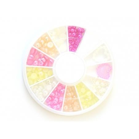Acheter Boite de mini cabochons ronds tons roses - 3 mm - 4,50€ en ligne sur La Petite Epicerie - 100% Loisirs créatifs