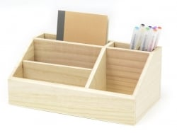 Customisable wooden pencil holder