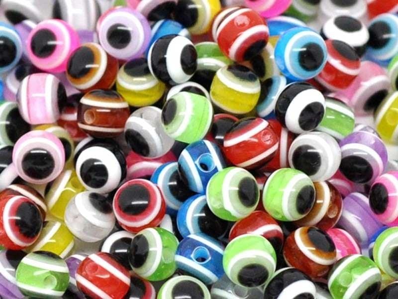 Acheter Lot de 20 perles rondes à rayures - 2,09€ en ligne sur La Petite Epicerie - Loisirs créatifs