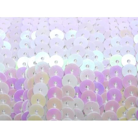 1m ruban sequins 6 x 6 mm - blanc nacré