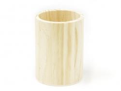 Customisable round wooden pen holder