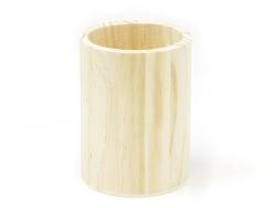 Runder Stiftehalter aus Holz zur individuellen Gestaltung