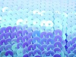 1m ruban sequins 6 x 6 mm - bleu nacré