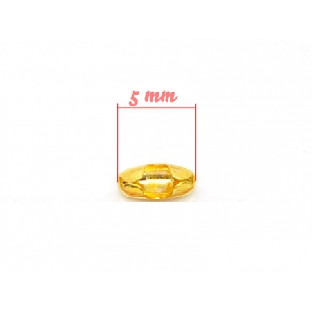 10 gold-coloured ball chain clasps (1.5 mm) - Size S