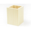Pot à crayons carré en bois à customiser