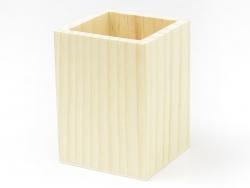 Viereckiger Stiftehalter aus Holz zur individuellen Gestaltung