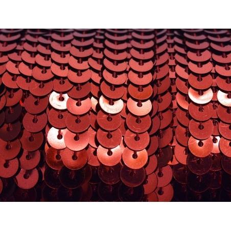 Acheter 1m ruban sequins 6 x 6 mm - rouge métallisé - 1,59€ en ligne sur La Petite Epicerie - Loisirs créatifs